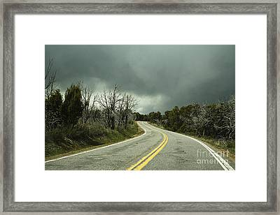 Winding Two Lane Road Framed Print by Ned Frisk