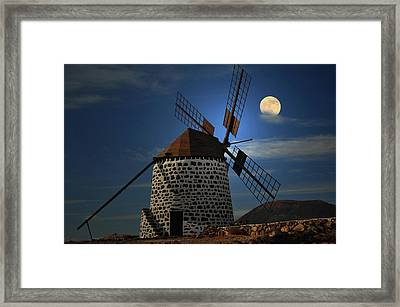 Windmill Against Sky Framed Print