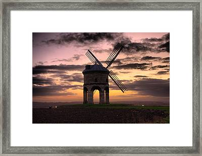 Windmill At Dusk Framed Print by Christopher Gandy