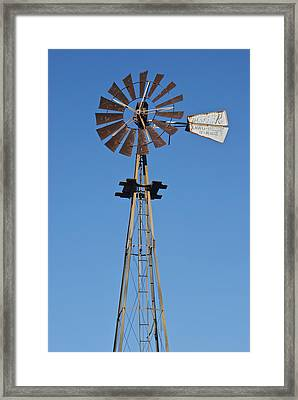 Windmill At For-mar 3489 Framed Print by Michael Peychich