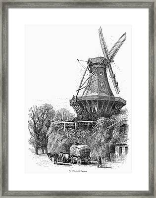 Windmill, C1870 Framed Print by Granger