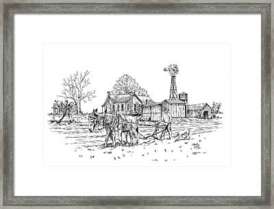 Windmill Framed Print by Charles Sims