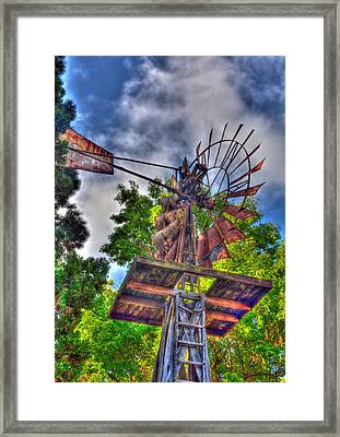 Windmill Hdr Framed Print