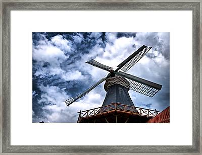 Framed Print featuring the photograph Windmill In Northern Germany 2 by Edward Myers