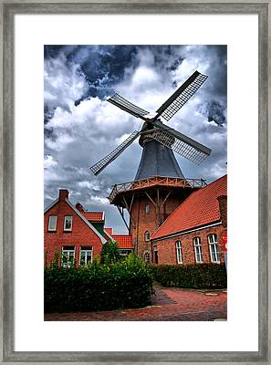 Framed Print featuring the photograph Windmill In Northern Germany by Edward Myers