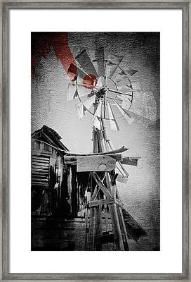 Windmill Framed Print by James Bethanis