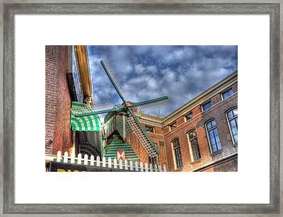 Windmill Of Amsterdam Framed Print by Barry R Jones Jr