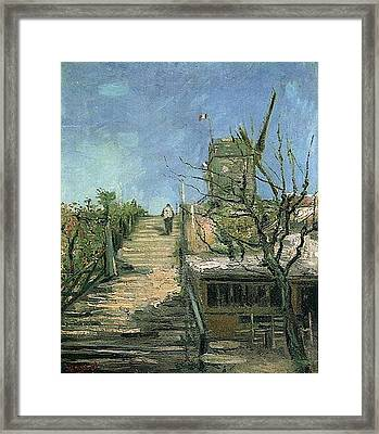 Windmill On Montmartre Framed Print by Vincent Van Gogh