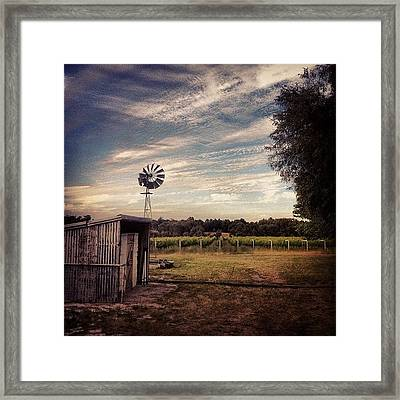#windmill #shed #winery #scenery Framed Print
