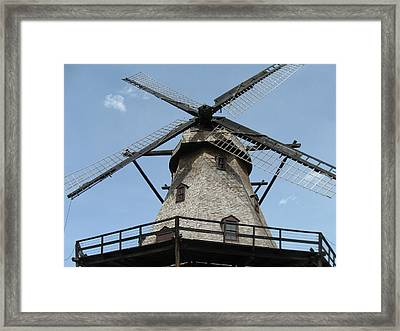 Windmill Framed Print by Todd Sherlock