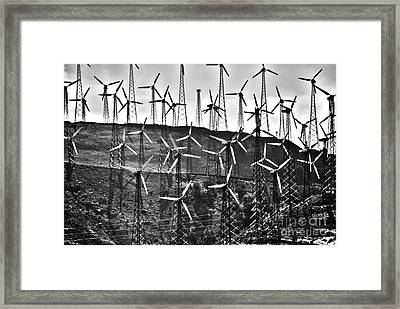 Windmills By Tehachapi  Framed Print