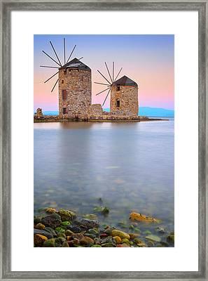 Windmills  Framed Print by Emmanuel Panagiotakis