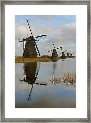 Windmills Framed Print by Javier Luces