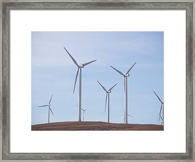 Windmills Framed Print by Jessica Jandayan