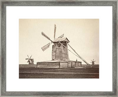 Windmills Near Omsk, Siberia Framed Print by Everett