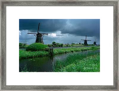 Windmills Of Kinderdijk  Framed Print by Serge Fourletoff