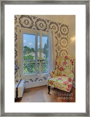 Window And Armchair Framed Print