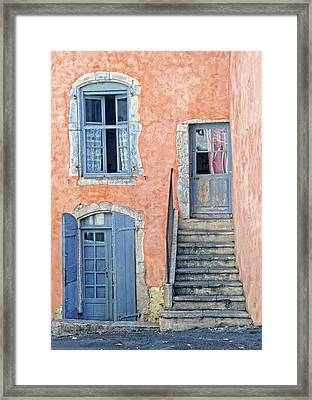 Framed Print featuring the photograph Window And Doors Provence France by Dave Mills