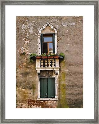 Window Art Venice Framed Print by Forest Alan Lee