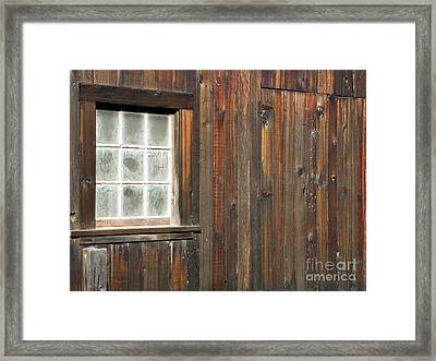 Window At China Camp Framed Print by Methune Hively
