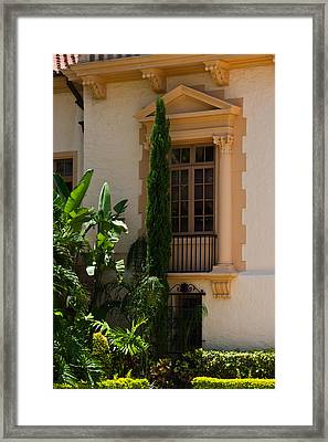Framed Print featuring the photograph Window At The Biltmore by Ed Gleichman