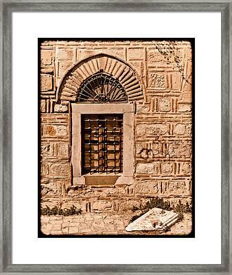 Athens, Greece - Window Break Framed Print