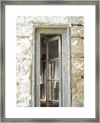 Framed Print featuring the photograph Window by Christophe Ennis