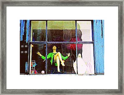 Window Dressing Framed Print by Randall Weidner