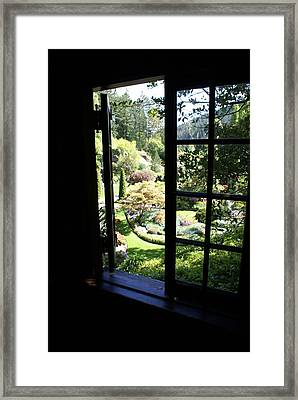 Framed Print featuring the photograph Window Garden by Jerry Cahill