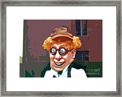 Window Greeter Framed Print by Gwyn Newcombe