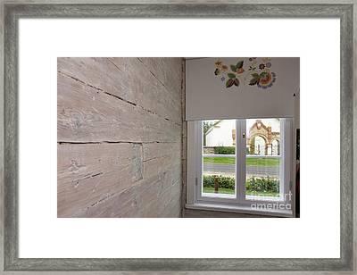 Window In Old Log Cabin Framed Print by Jaak Nilson