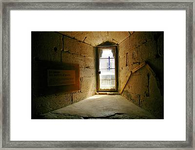 Window In The Abbey Of Senanque Framed Print by Christine Burdine
