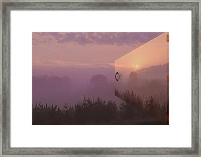 Window In Time Framed Print