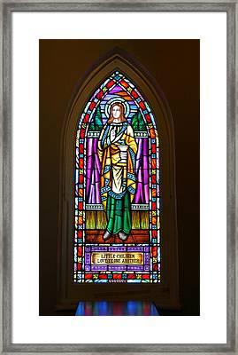 Window In Trinity Church V Framed Print