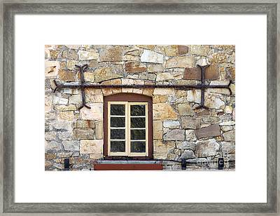 Window Into The Past Framed Print by Stephen Mitchell