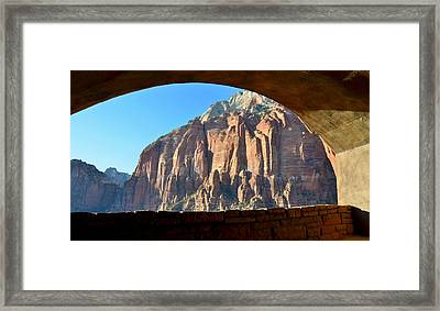 Window Into Zion Framed Print