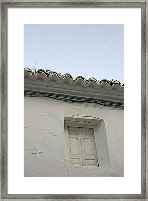 Window Of An Old Spanish House Framed Print by Perry Van Munster