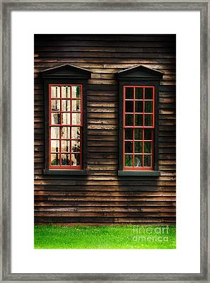 Window Of New England Framed Print by HD Connelly
