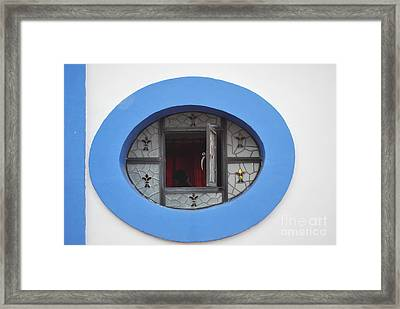 Window Of Secrets Framed Print by Anne Gordon