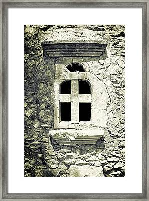 Window Of Stone Framed Print by Joana Kruse