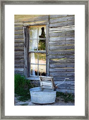 Window On Prairie Life Framed Print