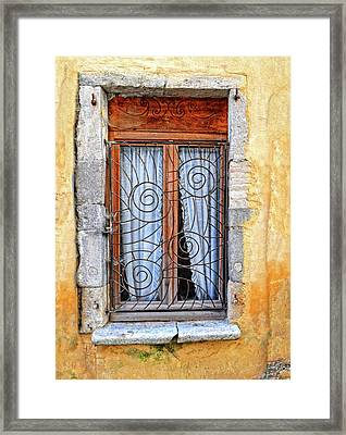 Framed Print featuring the photograph Window Provence France by Dave Mills