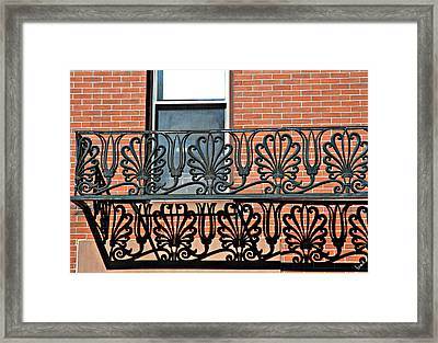 Window Scrolls Framed Print by Bruce Carpenter