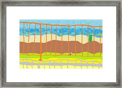 Framed Print featuring the painting Window Seascape by Anita Dale Livaditis