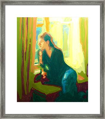 Window Seat Afternoon Light Framed Print
