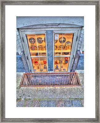 Window Shopping Framed Print by Barry R Jones Jr