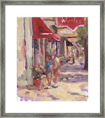 Window Shopping Framed Print by Jenny Anderson