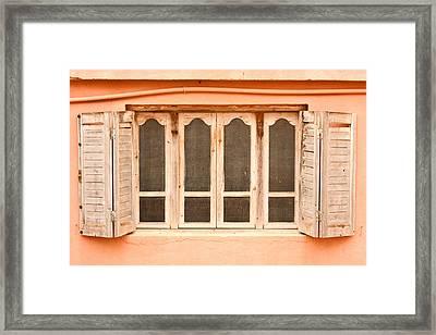Window Shutter Framed Print