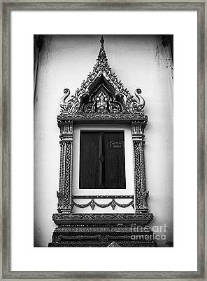 Window Framed Print by Thanh Tran