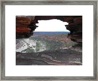 Window To Beyond Framed Print